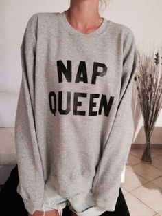 Details about Nap queen sweatshirt for women girl teens sleeping clothes funny…