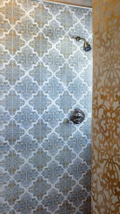 Strongly influenced by Moorish and Spanish design, the Isabella Mural by StoneImpressions beautifully depicts the feelings and influences of Mediterranean designs. Spanish Design, Mediterranean Design, Moorish, Tile Patterns, Entrance, Shower, Bathroom, Home Decor, Rain Shower Heads