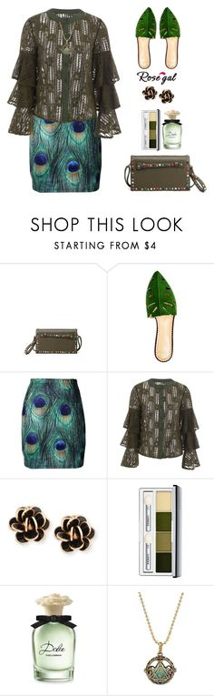 """""""76. Rosegal outfit idea"""" by wannanna ❤ liked on Polyvore featuring Charlotte Olympia, Chantecler, Clinique and Dolce&Gabbana"""