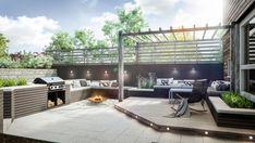 Outdoor Areas, Outdoor Rooms, Outdoor Decor, Scandinavian Garden, Villa, Planters, Cottage, Backyard, Glass