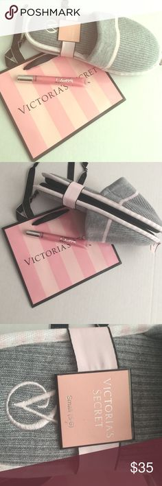 💝Bundle Victoria's  Secret sleepers/lip stain Beautiful set Victoria's Secret - set of 2 + paper Victoria's Secret paper bag small Victorias Secret  Other