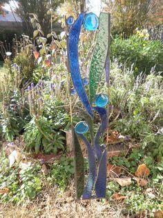 Glass art for the garden