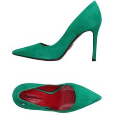 Cesare Paciotti Court ($345) ❤ liked on Polyvore featuring shoes, pumps, green, real leather shoes, leather sole shoes, cesare paciotti shoes, spiked heel shoes and green leather pumps