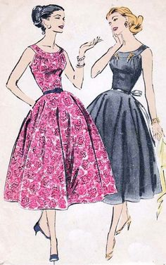 1950s Vintage Sewing Pattern Advance 8296 by sandritocat on Etsy