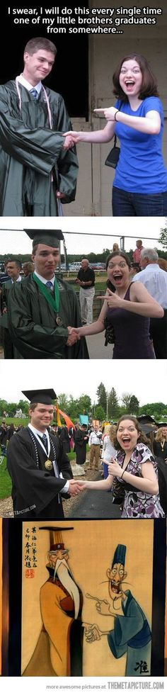 I am doing this when Jackson and Olivia Graduate from High School and Collage!