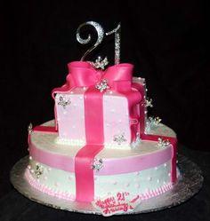 Girls+Birthday+Cake+Ideas | 21st birthday cake ideas for girls. 21st Birthday Bling Cake