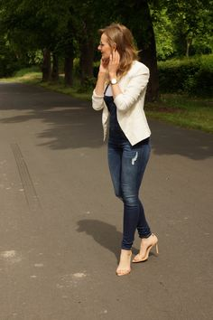 Be Kind T-Shirt + Denim Overalls + White Blazers Denim Overalls, Dungarees, Jeans, Zara Heels, White Blazers, Jumpsuit, Comfy, Lifestyle, My Style