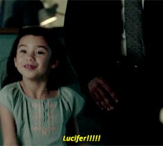 I am Trixie xD I would be so happy so meet Lucifer. Big smile, sparkling eyes and all Lucifer Gif, Tom Ellis Lucifer, Series Movies, Book Series, Movies And Tv Shows, Lauren German, Netflix, Morning Star, Emo Bands