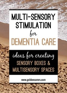 The sensory functions of elders decline as they grow older and this can impact on their feelings of well-being. Multi-sensory stimulation is becoming increasingly popular in nursing homes based on impressive results. Sensory activities contribute to the emotional and physical health of people living with dementia. Sensory activities can be non-verbal; thereby crossing cultural boundaries.