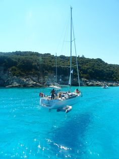 Antipaxos,Greece~ Greece Places To Visit, Places To Go, Sailboat Living, Sailing Trips, Holiday Places, Greek Islands, Greece Travel, Beach Trip, Travel Destinations