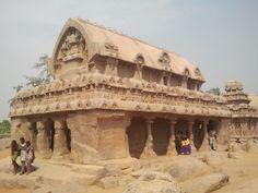 Five Rathas in Mahabalipuram - detail