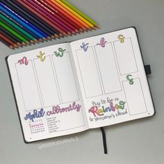Wanting to create the perfect rainbow inspired bullet journal spread? Well have a look at these creative rainbow bujo theme spread ideas Bullet Journal Weekly Layout, Bullet Journal Notebook, Bullet Journal Aesthetic, Bullet Journal Inspo, Bullet Journal Spread, Bullet Journals, Art Journals, Bujo, Journal Inspiration
