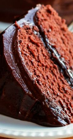 Classic Devils Food Cake - A light, airy and super moist chocolate cake that any chocolate lover would adore!