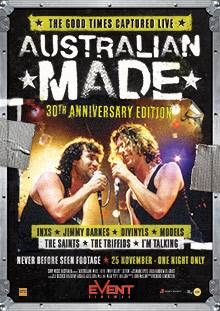 Australian music came of age in the summer of '87 when the cream of Oz rock toured the nation in the most ambitious series of concerts ever staged. 140,000 fans in six cities were blown away with stunning performances from INXS, Jimmy Barnes, Divinyls, Models, The Saints, I'm Talking and The Triffids. The good times from the summer of '87 were captured live in an acclaimed feature film that's been brilliantly restored, including never-before-seen backstage footage.