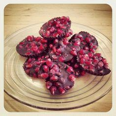 Pomegranate chocolate cups #vegan