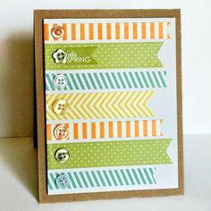 Washitapera: Una tarjeta decorada con washi tape