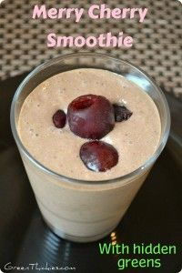 The best thing about this Merry Cherry Smoothie is the hidden greens