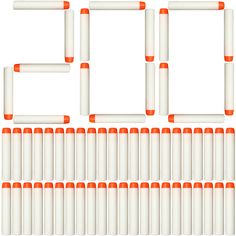 AMOSTING 200Pcs Refill Darts for Nerf N Strike Elite Glow at the Dark Bullets Pack - White. 【Dart Size】: 7.2x1.2cm, work for most Nerf guns, such as N-Strike Elite, Modulus, Rebelle, Zombie Strike, and more. 【High Quality & Safe】: Made of high quality plastic and EVA Foam, non-toxic material. Have fun, have a safe Gun War!. 【Package Included】: Refill ammo dart x 200. Lower price, larger quantity. Easy to carry and store. 【Fluorescent Nerf Bullet】:Expose these Darts to light before using…