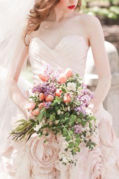 ~ Spring Wedding Bouquet ~ tulips - lilacs