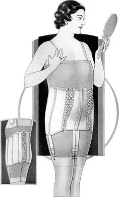 Maternity girdle, by Spirella, 1933.
