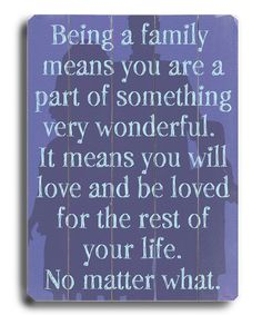 Take a look at this 'Being a Family' Wall Art on zulily today!