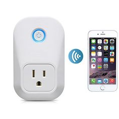 Akface Smart Wifi Plug Wireless Outlet Socket Turn ONOff Electronics Remote Control Switch for Household Appliances White >>> You can find more details by visiting the image link-affiliate link.