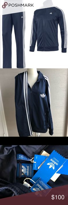 d6034cbe2a9009 Adidas Tracksuit New With Tags! Brand new never worn Classic navy blue  Adidas tracksuit.