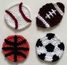 Sport Ball Appliques PDF Crochet Pattern by CrochetSpotPatterns/ CROCHET pattern