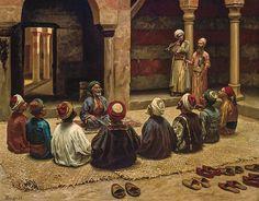 Zikir, Osmanlı dönemi Mısır, A dhikr scene (remembering God) in Ottoman Eg… Arabian Art, Islamic Paintings, Exotic Art, Islamic Pictures, Egyptian Art, Alhamdulillah, Islamic Art, Photo Art, Oil On Canvas