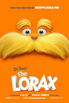 Dr. Seuss' The Lorax 27x40 Movie Poster (2012)
