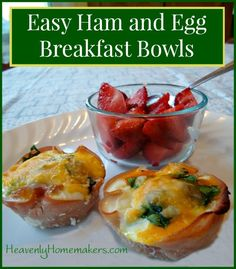 This is a genius breakfast idea! Make these Ham and Egg Bowls ahead of time if you like. They are all real food and a great source of protein. Delicious!
