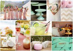 Blush, Mint, Gold for a fun Palm Springs wedding!