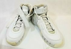feb14ba45b2577 2006 Nike Shox Elite TB Retro Basketball Shoes Size 15 white gray silver  Velcro  Nike