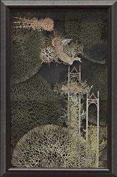 Jackie Cavallaro   Metta 2010  paper cut and mixed media (framed)  55 x 35cm