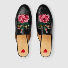 Gucci embroidered loafers.                                                                                                                                                                                 More