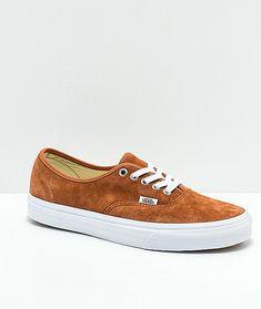 96c9e54cb03da5 Vans Authentic Brown Pig Suede Skate Shoes