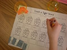 love this idea for practicing spelling or sight words, also love this blog (great ideas)