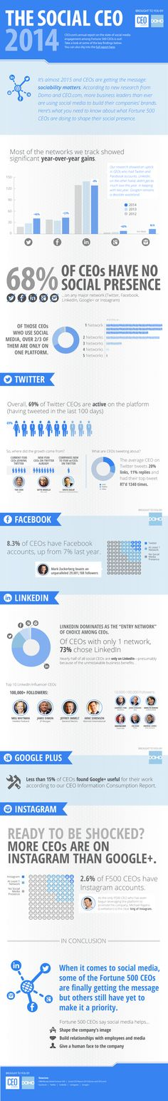 The social CEO 2014 - #Infographic #socialmedia