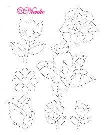 Bloemen String Art Patterns, Line Patterns, Beading Patterns, Stitch Patterns, Embroidery Cards, Rhinestone Art, Doodle Designs, Quilt Stitching, Dot Painting