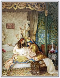 by kamil aslanger Classic Paintings, Beautiful Paintings, Empire Ottoman, Arabian Art, Academic Art, Turkish Art, Classical Art, Arabian Nights, Art Plastique