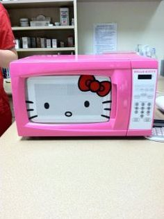 hello kitty pink microwave oven
