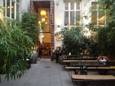 If that sounds like a step too far, Mitte's Vietnamese, Chen Che is in a courtyard and so un-Berlin you could kid yourself you're much farther away when the heat is on.
