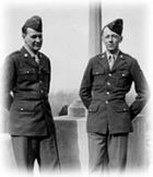 Charles Schulz, (pictured on the right) creator of Peanuts, served in the 20th Armored Division attached to the Seventh Army during World War II. He became a staff sergeant and served in France, Germany, and Austria.