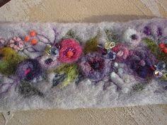 Felted Wool Wrist Warmer Wristlet CuffMerino Wool by lavenderheart, $38.00