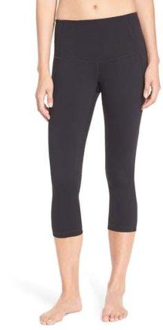 Zella 'Hatha' High Waist Crop Leggings Athletic Pants, Spandex Material, Snug, Bermuda Shorts, Capri Pants, Nordstrom, Leggings, Collection, High Waist