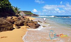 Playa Peña, the only beach right in Old San Juan, Puerto Rico. Rugged beauty with rocks along the sand, crystal clear waters and a corner that's just heavenly.