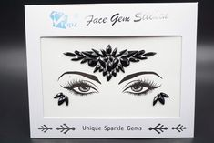 Black face gems Diamond Pasties Eye Jewels self-Adhesive Rhinestone face Jewels Sticker Mermaid Headpiece for Christmas Makeup(Jet black/SV-10) -- Read more at the image link. (As an Amazon Associate I earn from qualifying purchases) Face Gems, Face Jewels, Mermaid Headpiece, Gem Diamonds, Christmas Makeup, Body Makeup, Adhesive, Sparkle, Stickers