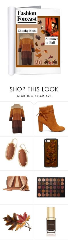 """""""Chunky Knits"""" by cathyvillalobos ❤ liked on Polyvore featuring Sole Society, Kendra Scott, Casetify, SONOMA Goods for Life, Morphe, Anne Klein, Dolce&Gabbana, Fall, autumn and polyvorecontest"""