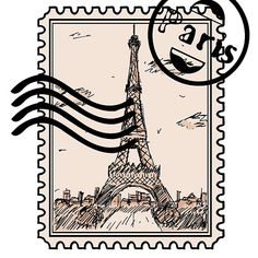 """""""Paris Stamp"""" Stickers by Tumblr Stickers, Phone Stickers, Cool Stickers, Canvas Art Prints, Framed Prints, Paper Bag Scrapbook, Wallpaper Stickers, How To Make A Paper Bag, Aesthetic Stickers"""