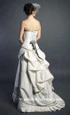 Steampunk wedding dress - WhidbeySewing